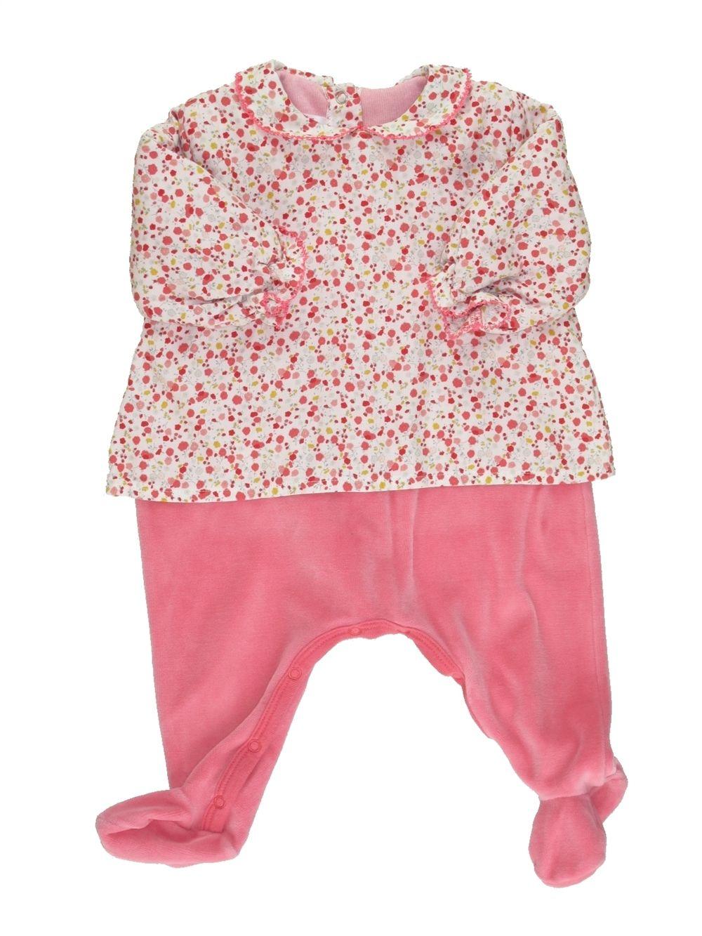 6798642bc6578 Pyjama 1 pièce Fille PETIT BATEAU 3 mois pas cher
