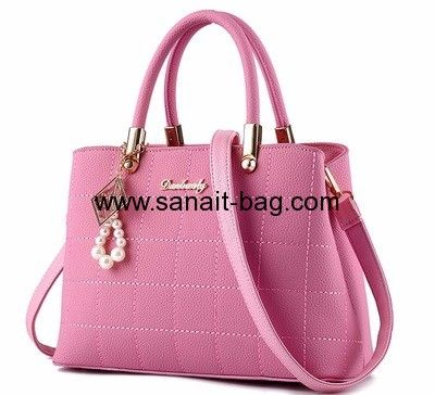 dd5fe7c415 Factory custom design pu women shoulder bag fashion bag ladies handbag 2016  pu…