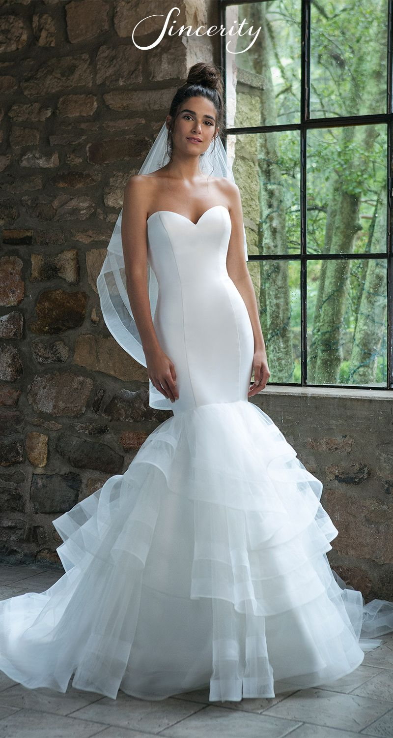Style 44047 Turn Heads In This Flattering Satin Wedding Dress This Mermaid Silhouette Will A Wedding Dresses Satin Satin Mermaid Wedding Dress Bridal Dresses [ 1500 x 800 Pixel ]