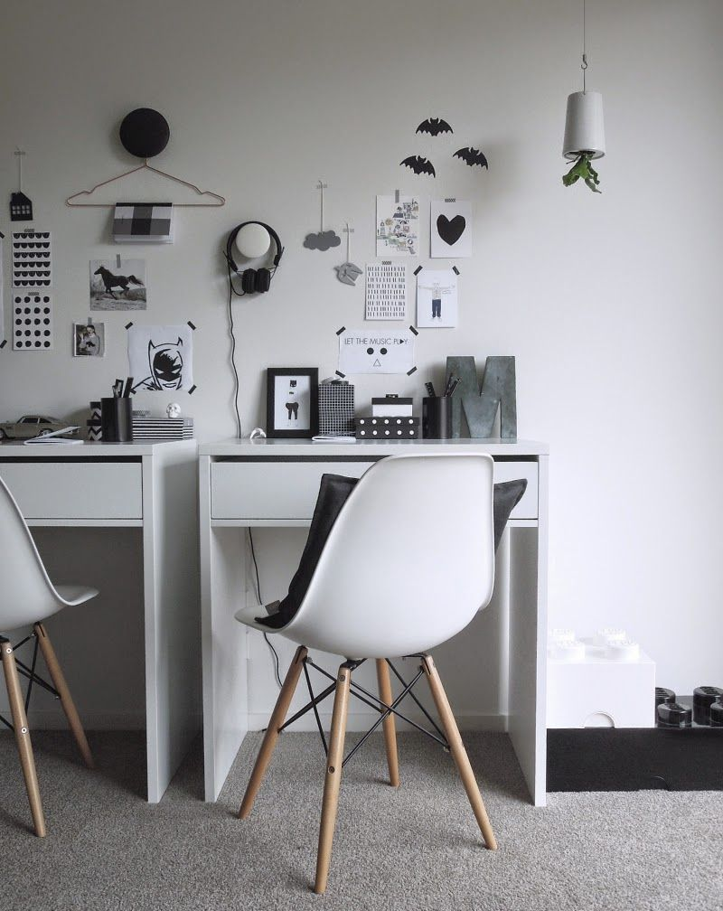 Nz Study Room: Black And White Kids Study Space From Michelle Halford's