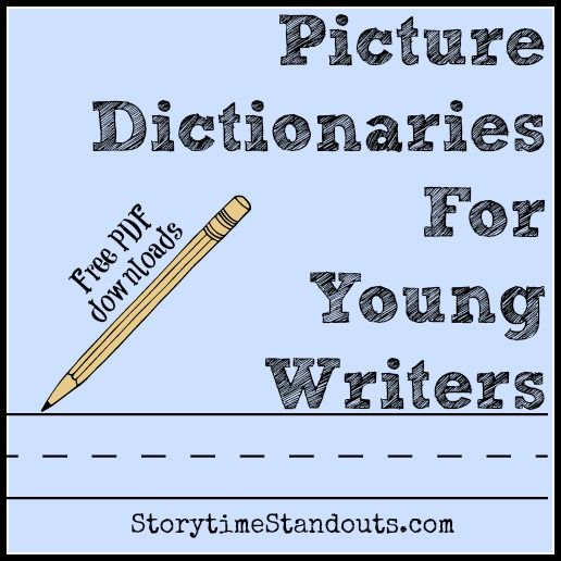 free printable picture dictionaries for young writers from ...