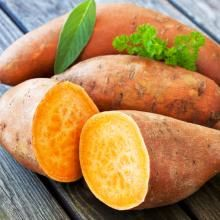 Sweet potatoes are an excellent source of fiber and a good source for vitamins C & D