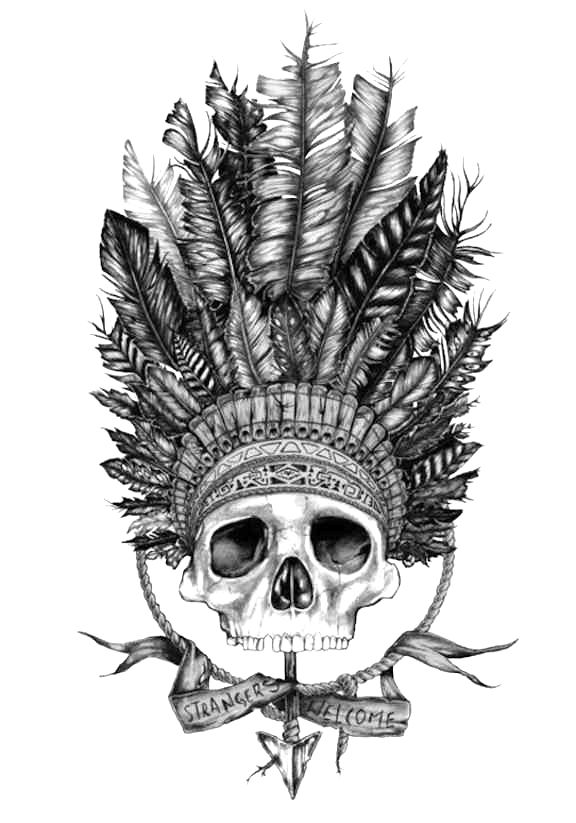 pin by susanne hoenig on draw a skull pinterest Indian Chief Clip Art Indian Warrior Logo