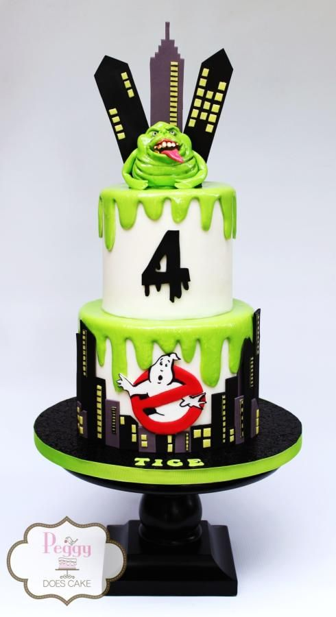 Sensational Ghostbusters Cake By Peggy Does Cake Ghost Busters Birthday Funny Birthday Cards Online Alyptdamsfinfo