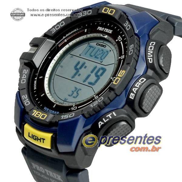 bc9728ea71a PRG-270-2D Relógio Casio Protrek Triplo Sensor Altimetro Barometro  Termometro