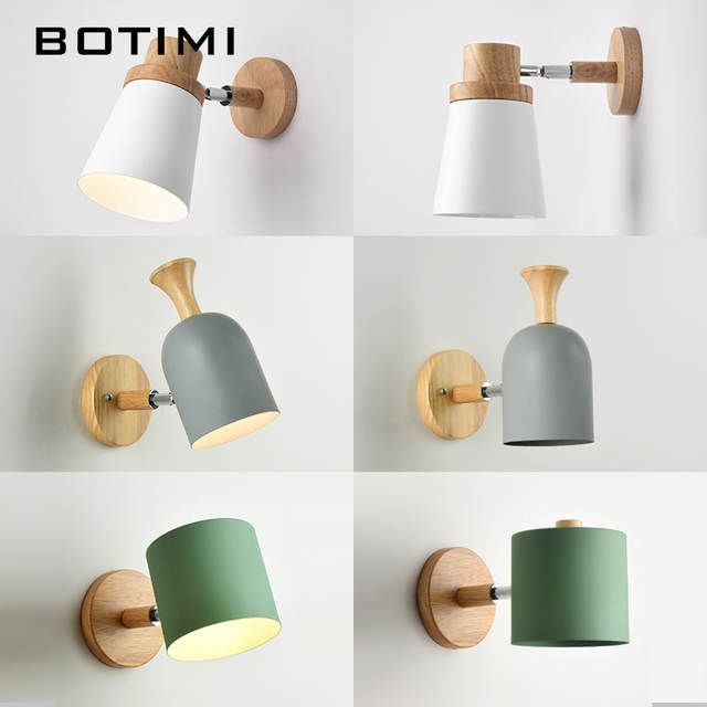 Botimi Nordic Led Wall Lamp For Bedroom Reading Wall Sconce