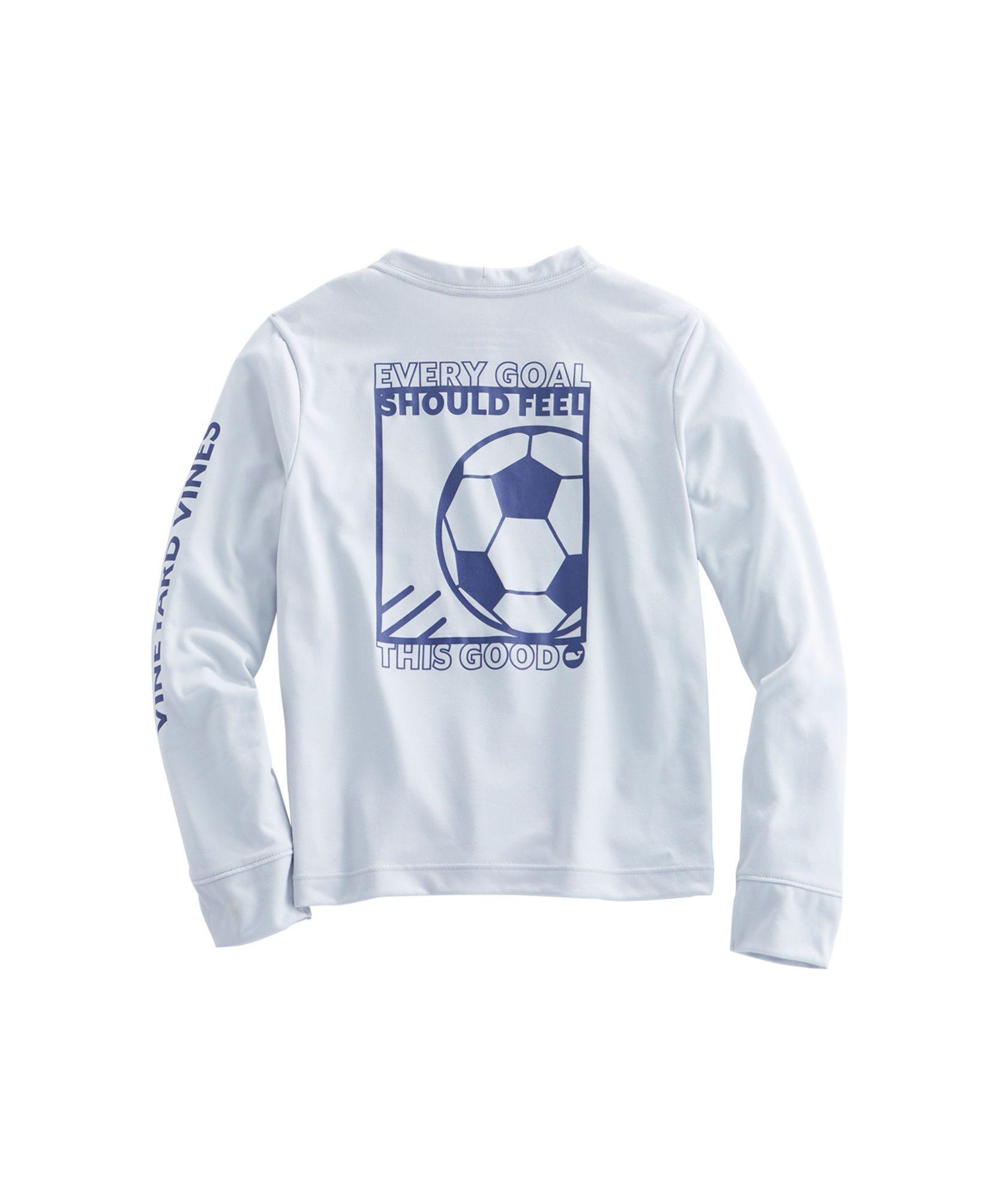 1e4aa3ef2 Boys Long-Sleeve Soccer Box Performance T-Shirt | Vineyard Vines in ...