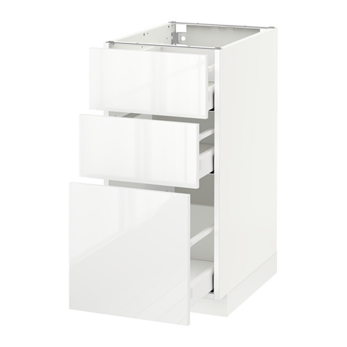 Metod Maximera Element Bas 3 Tiroirs Blanc Ringhult Blanc 40x60 Cm Ikea Tiroir Ikea Placard