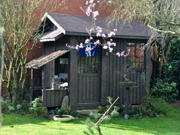Cabane façon maison de thé | Cabane jardin | Pinterest | Maison de ...