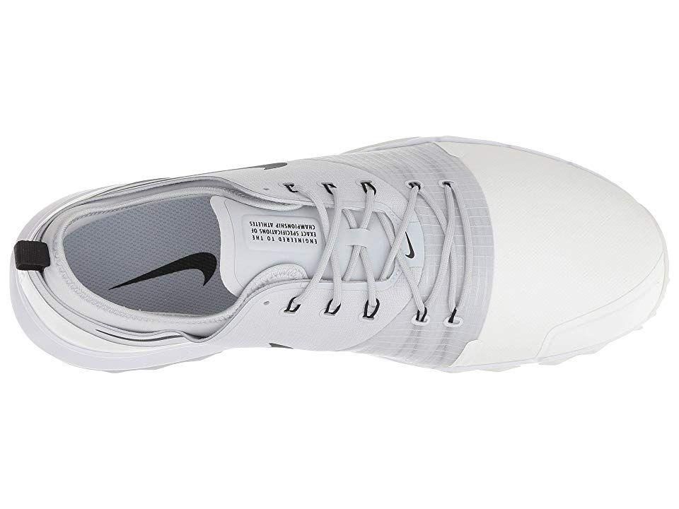innovative design ae965 685b1 Nike Golf FI Impact 3 Men s Golf Shoes Summit White Black Pure Platinum  White