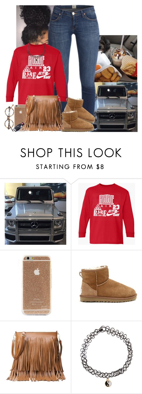 """✌️"" by jemilaa ❤ liked on Polyvore featuring UGG Australia, Accessorize and Mercedes-Benz"