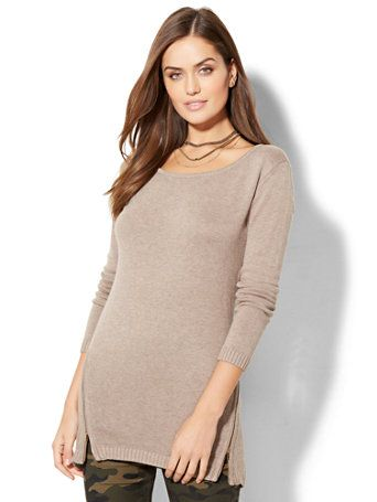 af21bdb3526 Shop Zip-Accent Tunic Sweater. Find your perfect size online at the best  price at New York   Company.