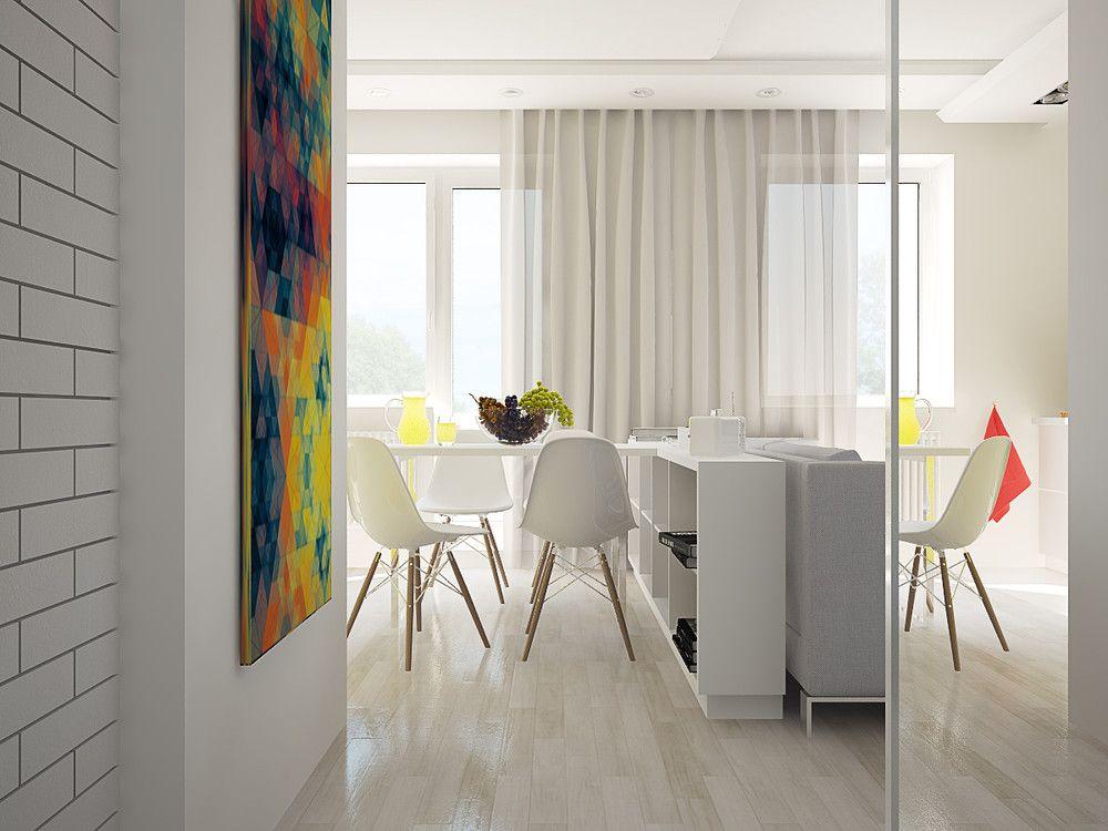 40М2 - Интерьер в современном стиле с Vitra | PINWIN - конкурсы для архитекторов, дизайнеров, декораторов