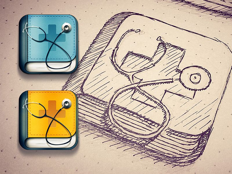 Doctor search iOS icon | Concept Sketch