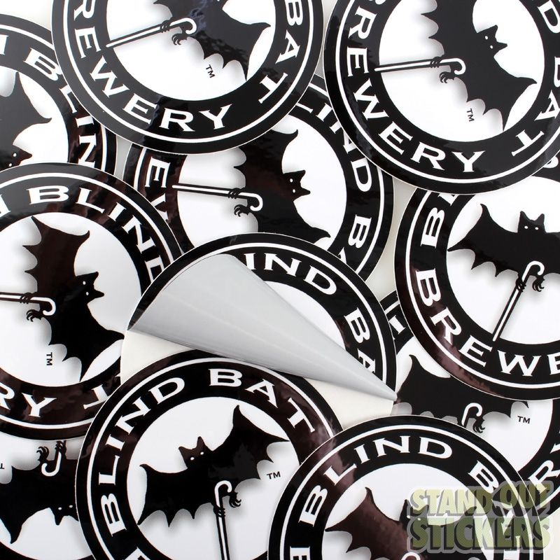 CIRCLE CUSTOM STICKERS FOR BLIND BAT BREWERY