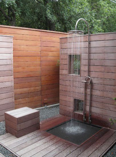 Japanese Outdoor Shower Design Ideas