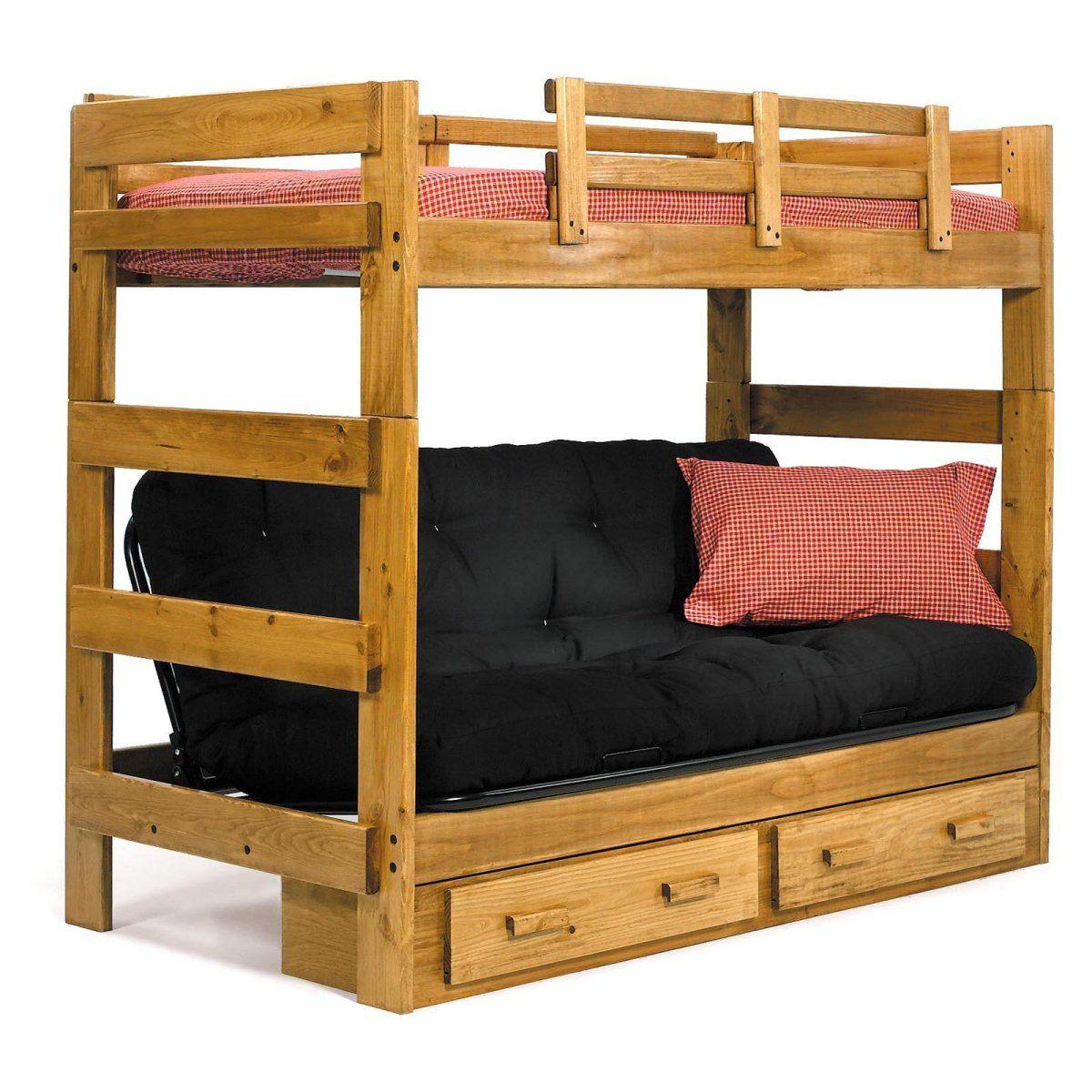 Savannah Twin over Futon Bunk Bed Wood bunk beds, Futon