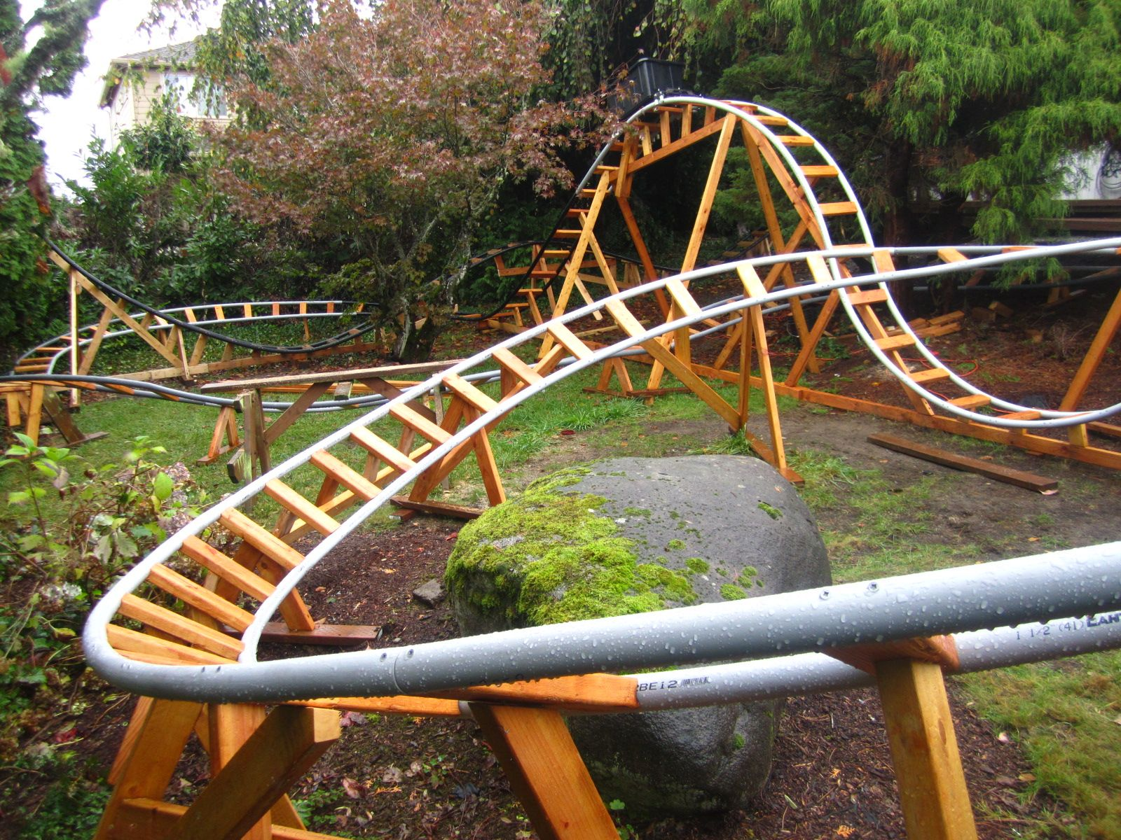 Every Now And Then We Come Across Homemade Roller Coasters Designed By Amateurs And Built In Their Own Back Homemade Roller Coaster Backyard Fun Roller Coaster Diy backyard roller coaster