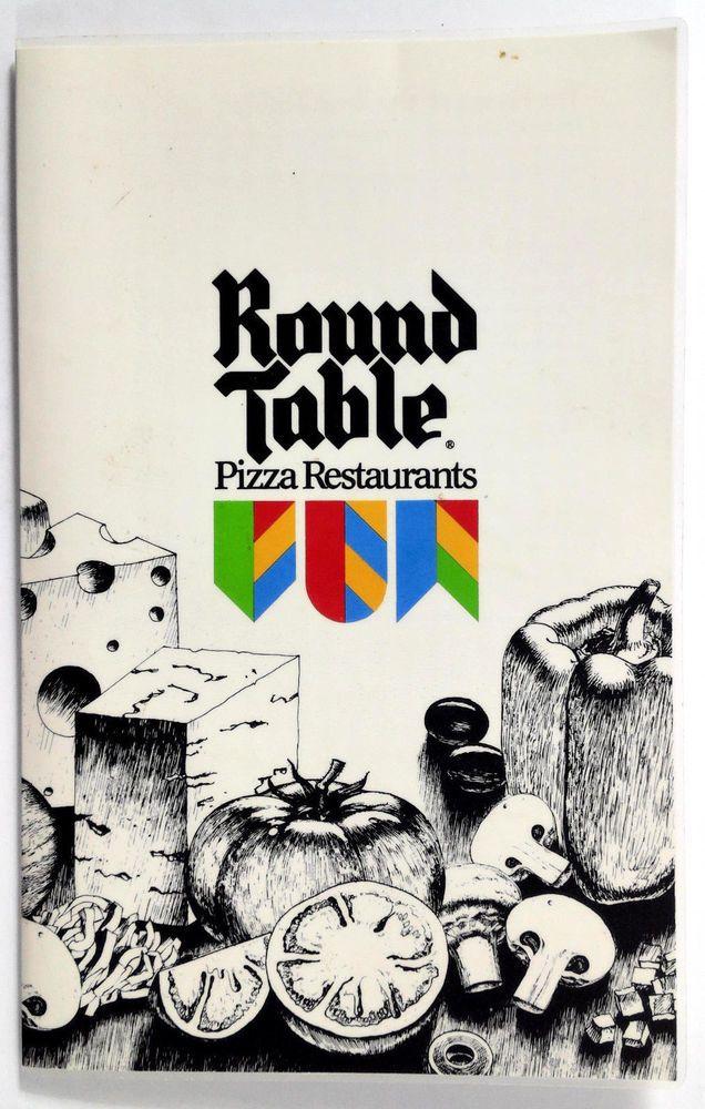 Round Table Pizza Tarzana.1980 S Original Vintage Laminated Menu Round Table Pizza Restaurants