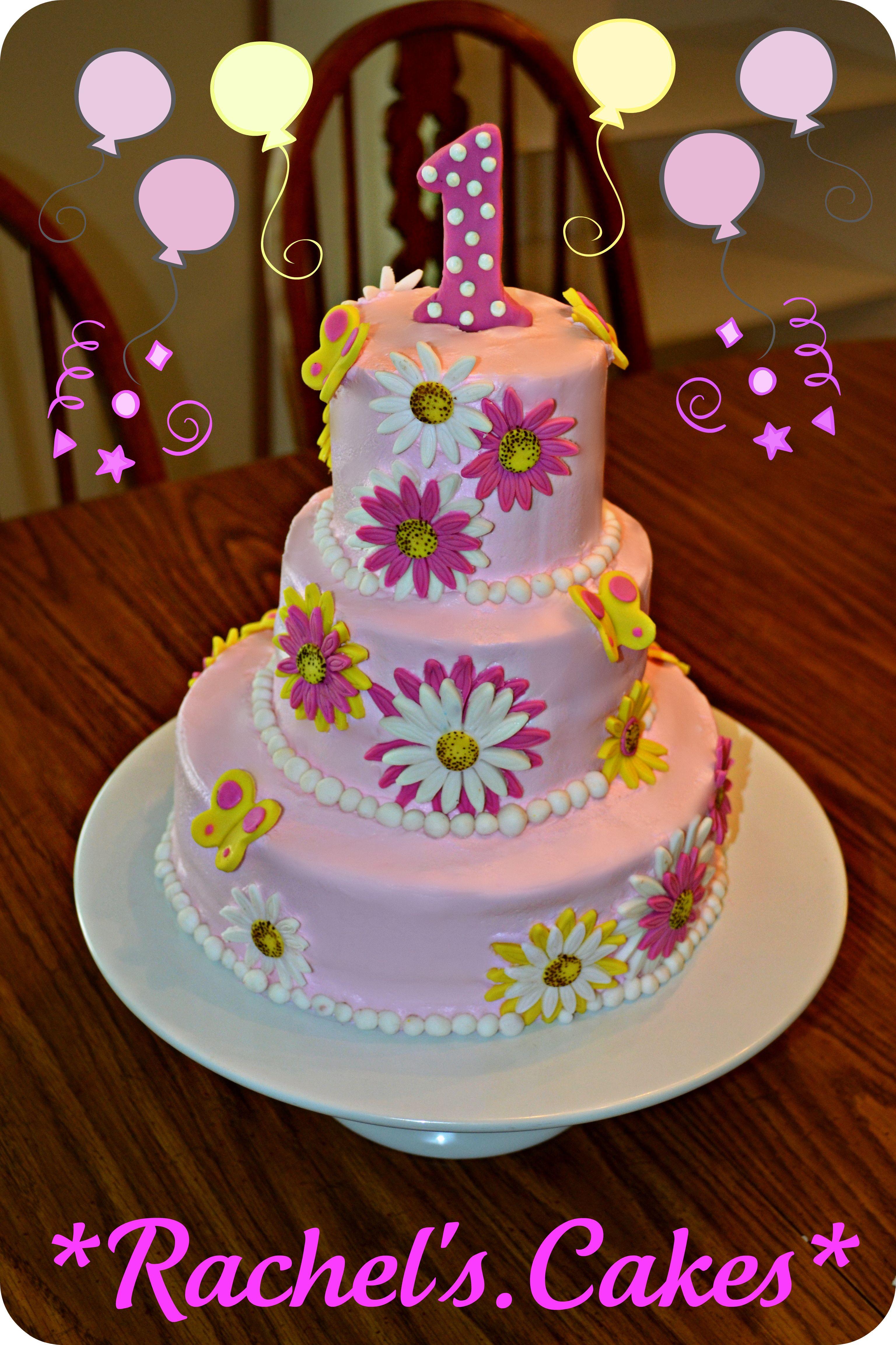1st Birthday Flower Cake My Own Cakes Pinterest Cake