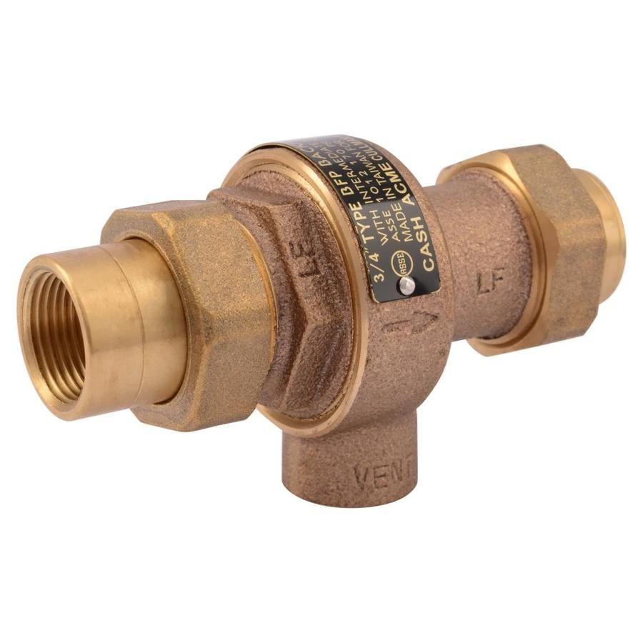 Cash Acme Brass 3 4 In Fnpt Backflow Preventer 21575 0000lf In 2020 Brass Lowes