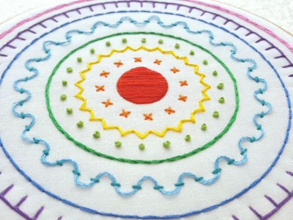 Rainbow Sampler Embroidery Pattern Hand Embroidery Digital Pattern