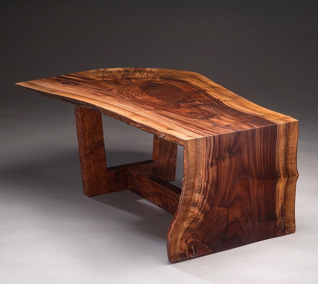 Another Angle On This Claro Walnut Waterfall Coffee Table This