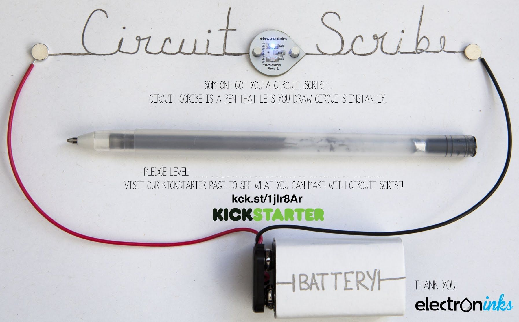 Circuit Scribe Is A Rollerball Pen That Writes With Conductive Want Silver Ink It Makes Creating Circuits As Easy Doodling Help This Project At Kickstarter