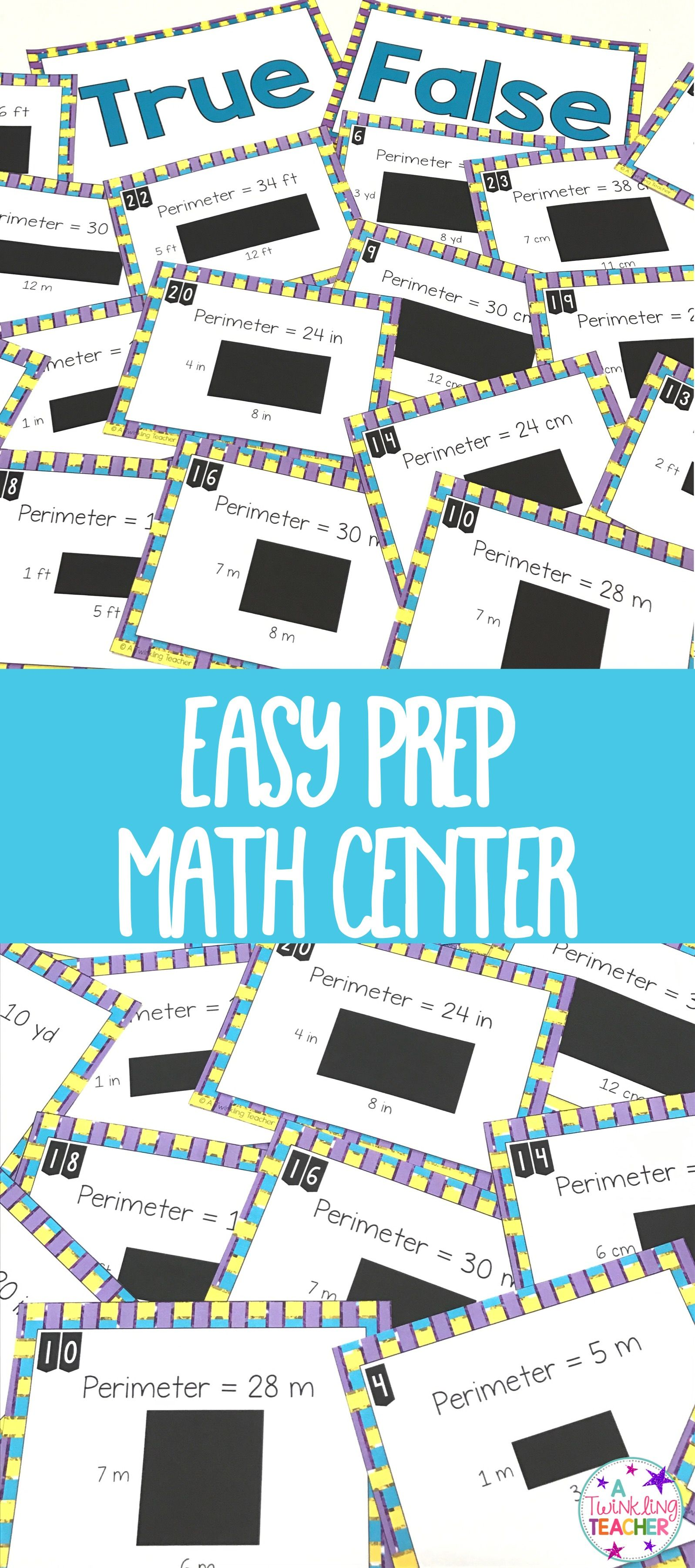 Perimeter true false math center sort | Math, Math resources and ...