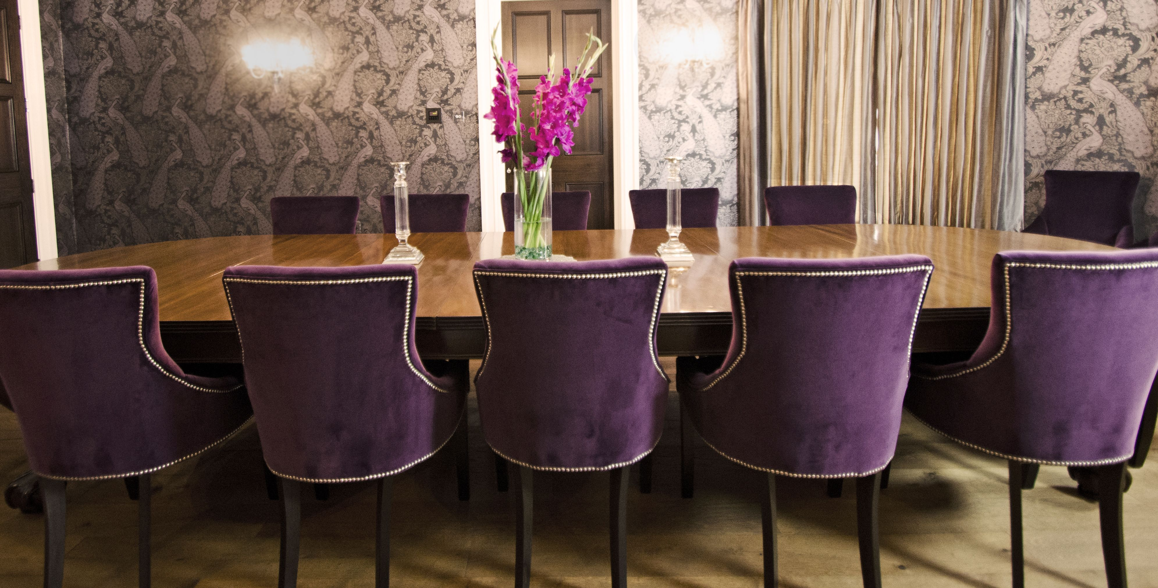 Velvet Purple Dining Room Chairs Www Suescammellinteriors Co Uk