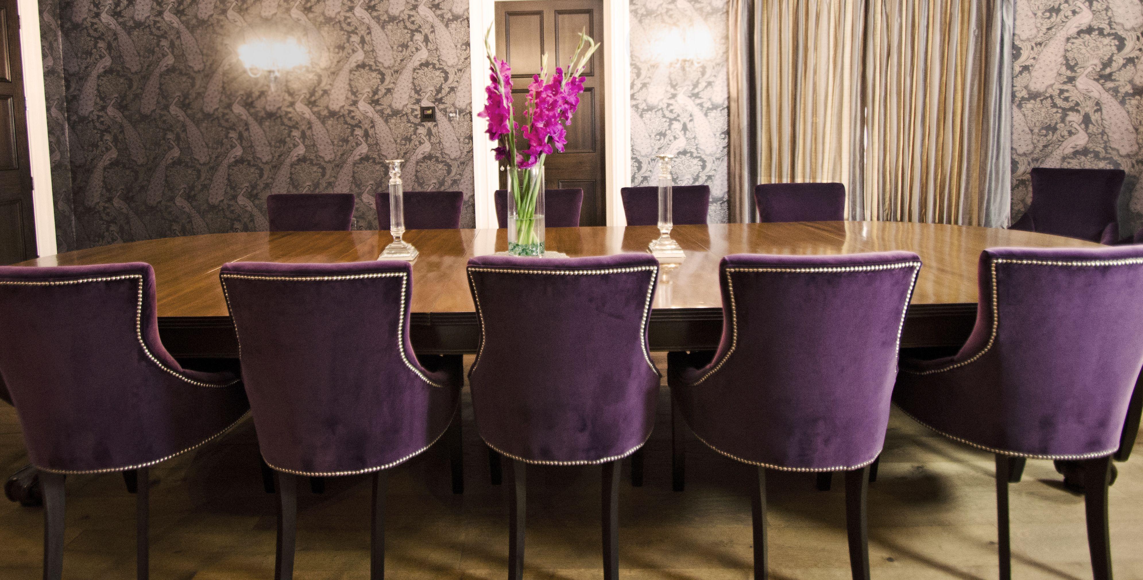 Velvet Purple Dining Room Chairs Www Suescammellinteriors Co Uk