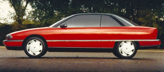 OG | 1991 Oldsmobile Achieva Coupé | Fiberglass Model. It was a 2-door on one side and a 4-door on the other.
