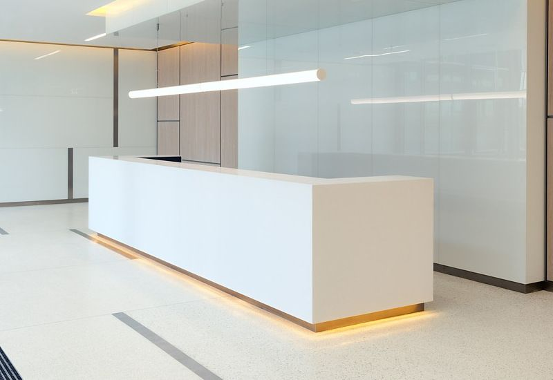 Solid surface reception desk tw mart 113 reception desks for Bureau reception
