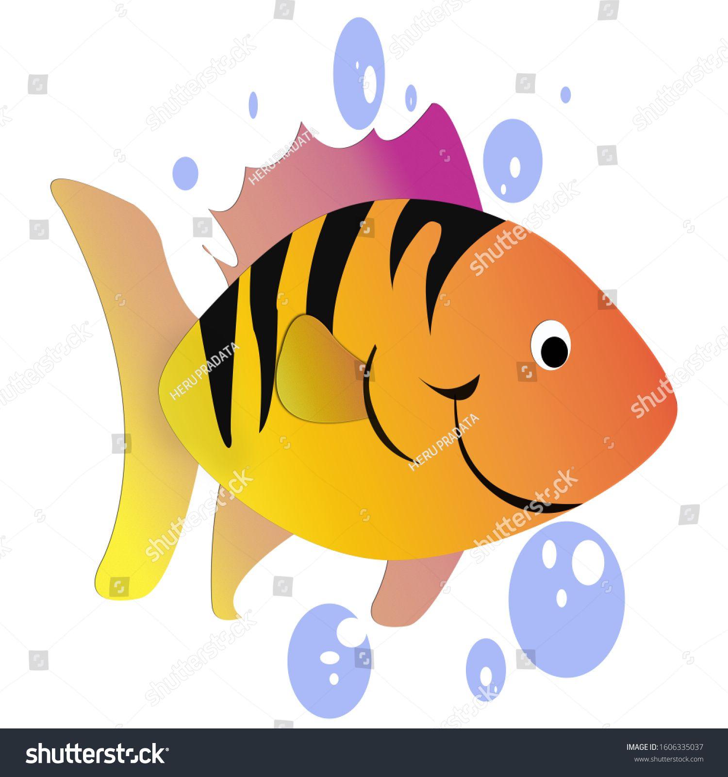 Fish Cartoon Character Sea Animals Clip Art Ad Sponsored Character Cartoon Fish Sea In 2020 Cartoon Fish Sea Animals Cartoon Characters