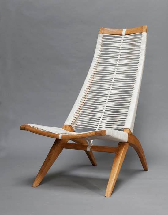 Andrzej Pawlowski Woven Armchair Made By Antoni Fic Ca 1955
