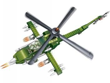 Força Tática Helicóptero Apache 231 Peças - BanBao