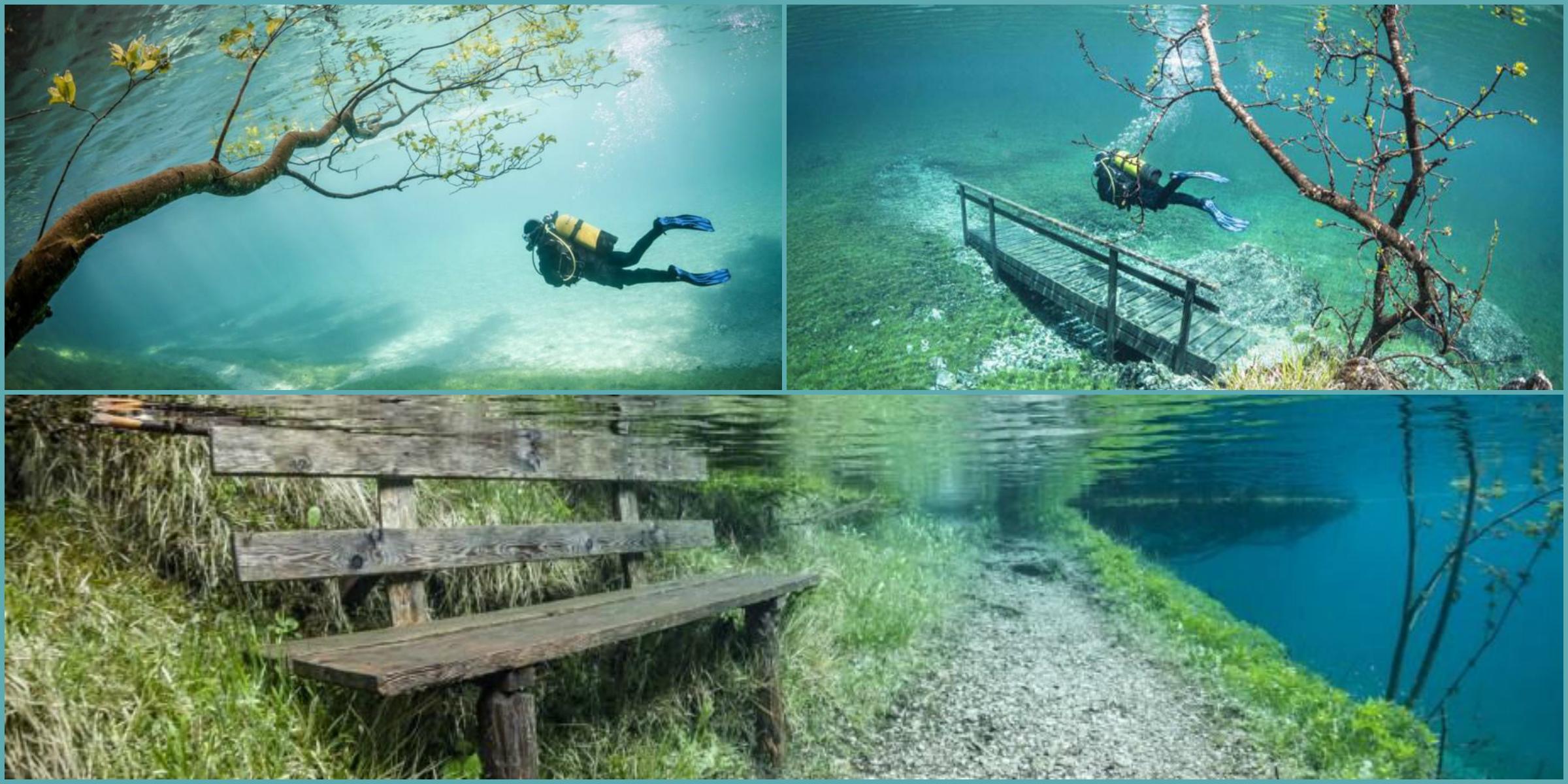 Underwater lake in austria
