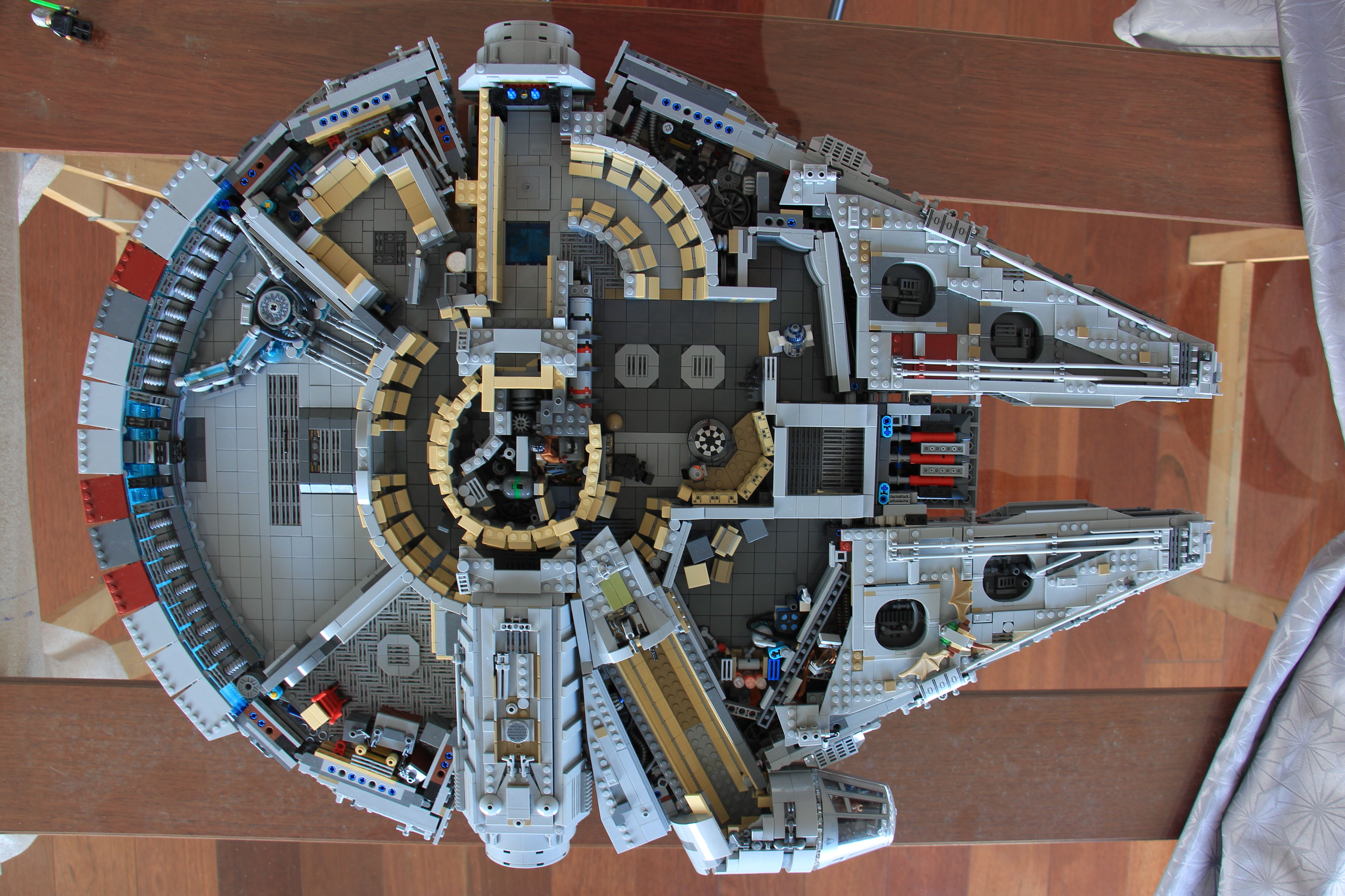 This Is How A Built My Own Millennium Falcon Lego Moc 15000 Parts In 2020 Millennium Falcon Lego Lego Millenium Falcon Millennium Falcon