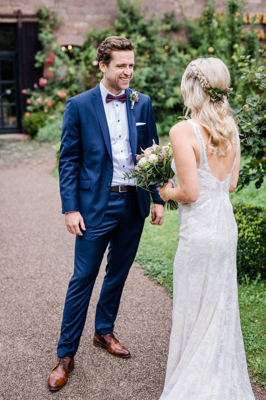 blauer anzug bräutigam vintage hochzeit | hochzeit anzug