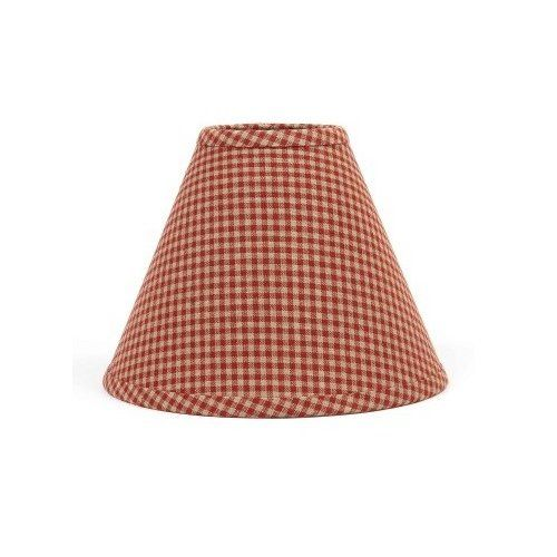 On bedside lamps x2 23 99 home collection by raghu newbury gingham barn red lampshade 10 x