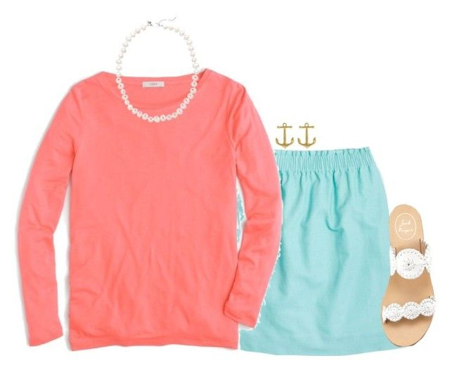 """"""""""" by waldenwilly ❤ liked on Polyvore featuring J.Crew, Jack Rogers and Fornash"""