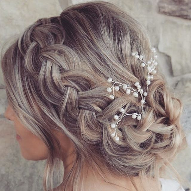 Beautiful Braids For Your Maids Hairideas Braids Hairbraid Bridesmaidhair Bridesmaids Braided Hairstyles For Wedding Brides Maid Hair Quince Hairstyles