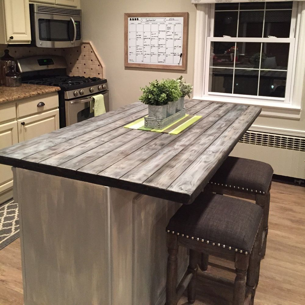 transformed dresser into kitchen island | ilot, transformation de