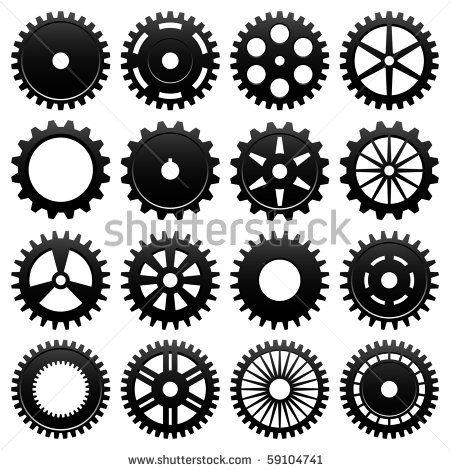 Machine Gear Wheel Cogwheel Vector - 59104756 : Shutterstock