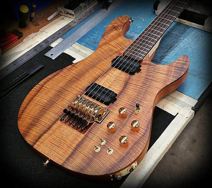 C66 Flamed Koa Top On Koa Body With A Tung Oil Finish At Kiesel Guitars Carvin Guitars Guitar Electric Bass Tung Oil Finish