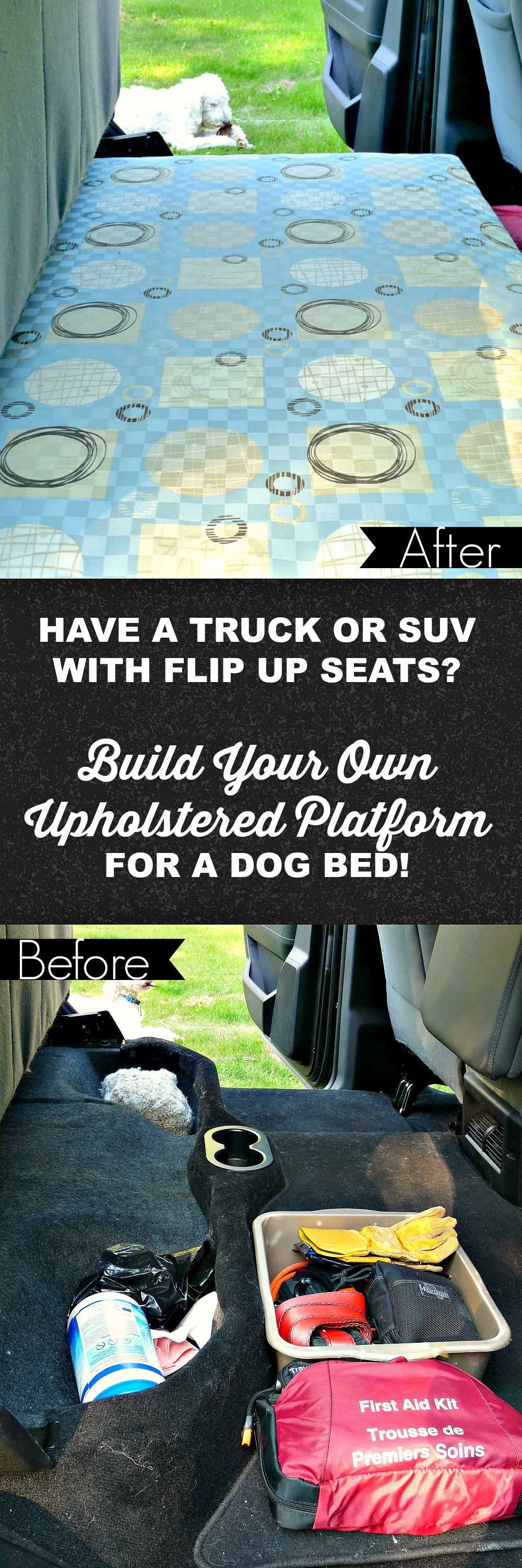 DIY Dog Platform for Back of Ram Truck Cab Diy dog bed