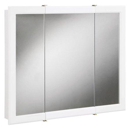 Design House 531434 Concord Tri View Medicine Cabinet Mirror 30