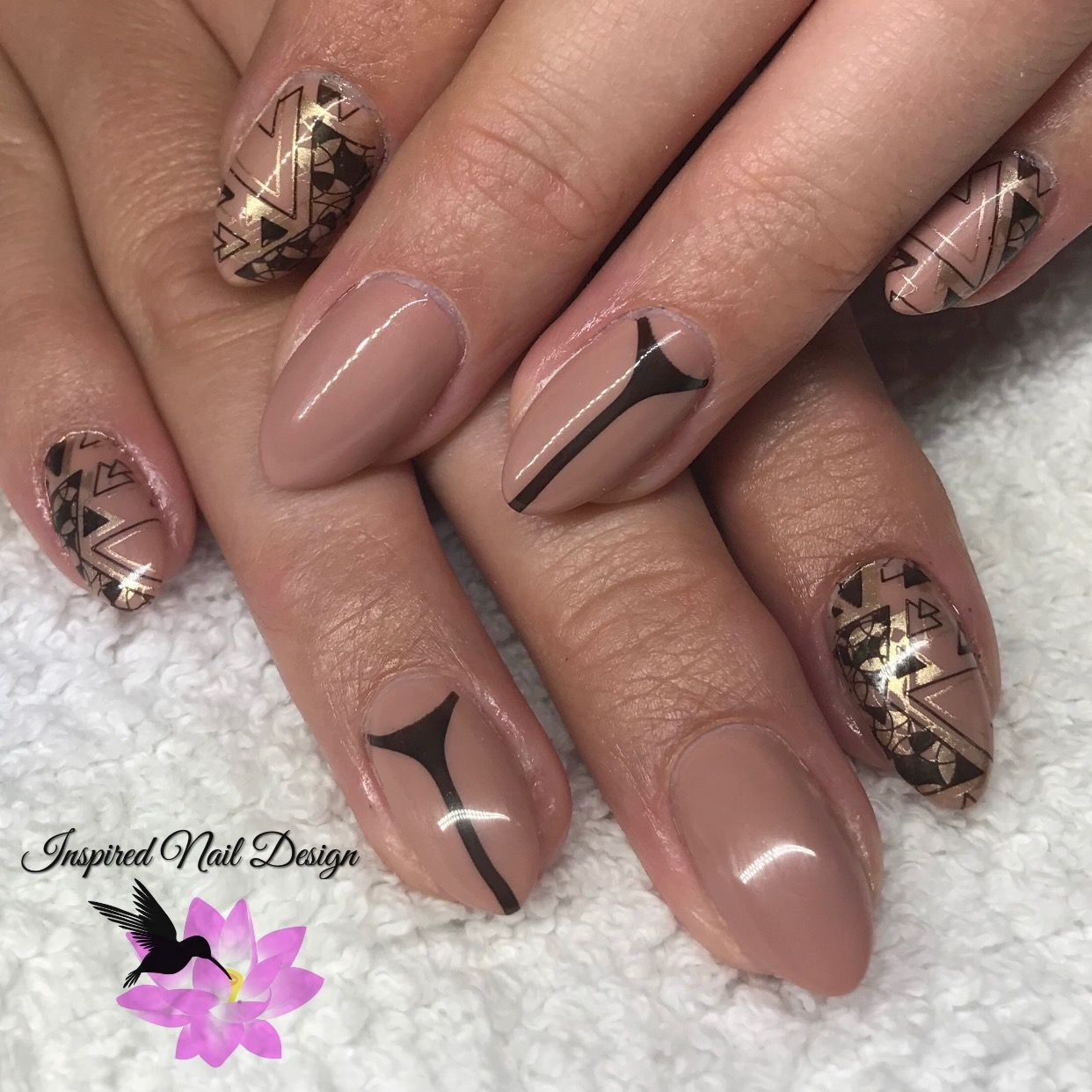CND Shellac Satin Pyjamas with stamping using :YOURS ❤ Tracey Lee ...