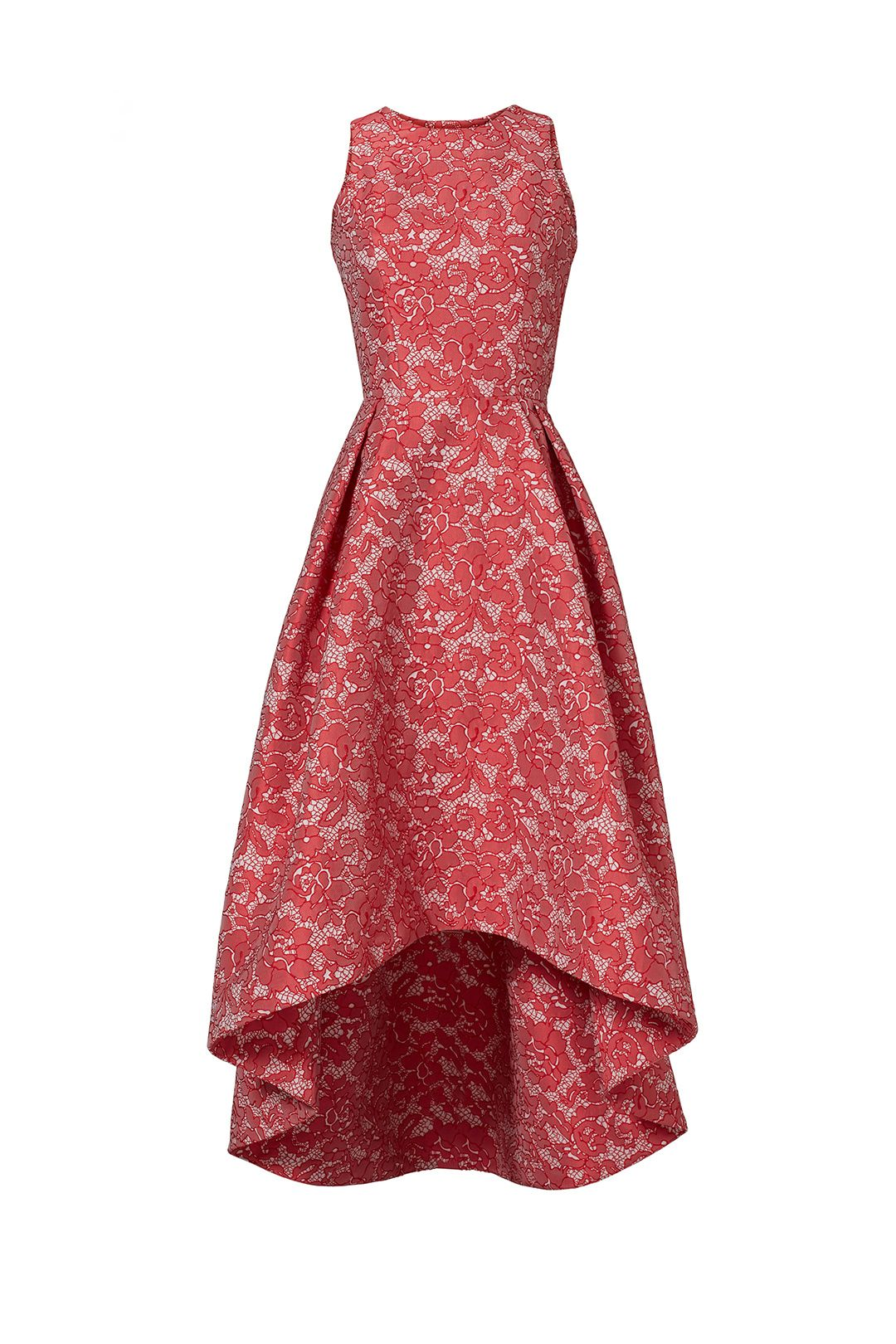 ML Monique Lhuillier Red Abstract Floral Dress | Sewing/Refashioning ...