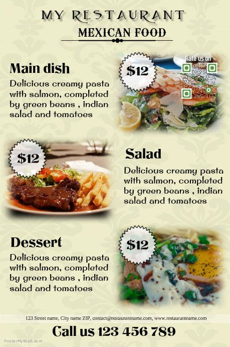 Restaurant flyer template http://www.postermywall.com/index.php ...
